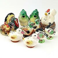 Vintage Birds Lot of 6 Sets of Salt and Pepper Shakers Japan Ceramic Collectible