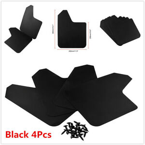 4Pcs Plastic Mudflaps Mudguards Fenders Splash Guard For Car Pickup Truck SUV