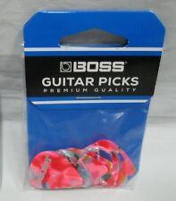 boss premium quality celluliod mosaic medium  picks guitar bass picks 12 pack