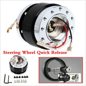 Universal Car Racing Steering Wheel Quick Release Hub Adapter Snap Off Boss Kit