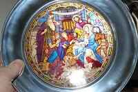 St. John's New Orleans The Shepherds At Bethlehem Stained Glass Christmas Plate