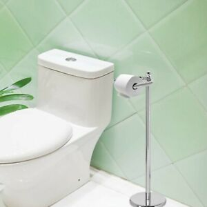 New Best Quality Free Standing Chrome Toilet Paper Holder with Weighted Base Uk