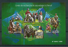 Togo 2015 MNH Search & Rescue Unit on Horseback 4v M/S Horses Mounted Search