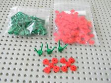 Lego -  Lot of  New Red Flowers with Green stems - New Condition !!!
