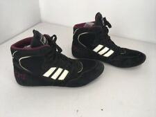 Adidas Rare Vtg 90s 95' Mondial Wrestling Shoes men's size 12 Black Maroon White