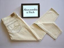 A&F Womens Jeans The Boyfriend Easy Fit Bleach Blue White Crop W29* L27
