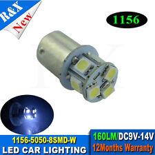 2pcs 1156 BA15S 8 SMD 5050 White Brake tail parking led Bulb 9-14V led light NEW