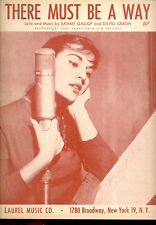 "Joni James Sheet Music ""There Must Be A Way"" 1945"