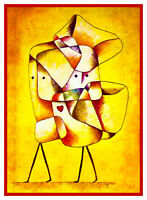 Expressionist Modern Artist Paul Klee Siblings Counted Cross Stitch Pattern