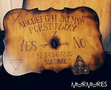Wooden ouija board spiritual talking game wood spirit medium wicca planchette