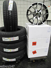"20"" GMC Yukon Sierra Factory Style Machined Black Wheels Bridgestone Tires 5656"