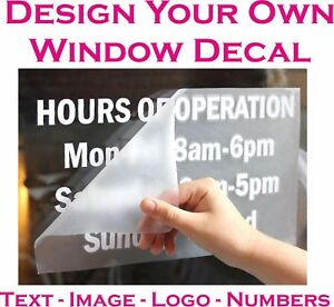 Personalised WINDOW Sticker Custom Vinyl Decal Design your Own Quote Art UK