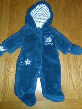 BNWT baby boy soft & fluffy snowsuit. Mickey.Hood & detachable mittens. 3-6mths.