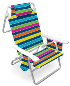 Caribbean Joe Deluxe Beach Chair Reclinable multiple colors