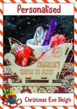 Personalised Christmas Santa Sleigh & Mug Candy Cane Hot Chocolate and more