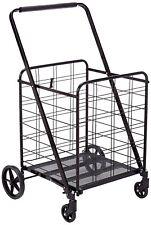 Heavy Duty 360 Degree Wheel Folding Super Jumbo Shopping Cart,Max 150 LB,Black