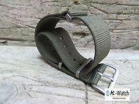NATO G10 Olive Green Nylon, Divers, MOD, Military Watch Strap 18, 20, 22,24mm