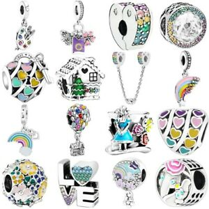 New S925 sterling European silver charms pendant bead For bracelet chain bangle