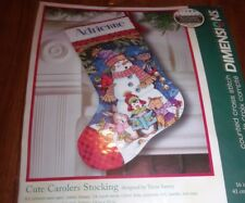 Dimensions Cute Carolers Counted Cross Stitch Stocking Kit