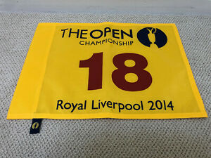 2014 Official BRITISH OPEN ROYAL LIVERPOOL Rory Pin Flag PGA US Open Golf Flag