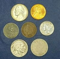 Mercury Silver Dime Starter Collection Lot of 7 Vintage US Coins