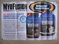 Gaspari Myofusion Promotional Banner Bodybuilding Memorabilia Advertisement