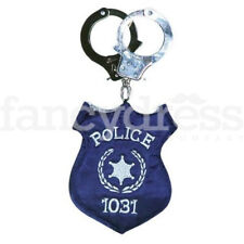 Police Badge Bag with Handcuff Handles US Style Police Fancy Dress Handbag NEW