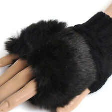 Girl Shaggy Faux Fur Knit Fluffy Hands/LEG Warmers Ankle Boot Covers Gloves HE