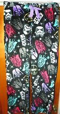 NEW STAR WARS Vader R2D2 Womens XL 16/18 Pajamas Fleece Sleep Lounge Pants R26