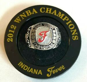 Indiana Fever 2012 WNBA Finals Champions Ring w/ Display Base & Gift Box