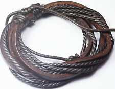 Kings & Lions Brown Leather Rope Bracelet for Men and Women