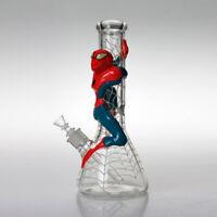 Phoenix 10 Inch Glass Water Pipe Spiderman Design Heavy Glass Bong /& ICE catcher