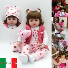 Lifelike Reborn Baby Doll 46/58CM Doll Vinyl Kid Girl playmate Bambole rinascere