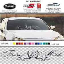 "FINANCIAL MISTAKE 35"" royal windshield banner stance car JDM decal sticker"