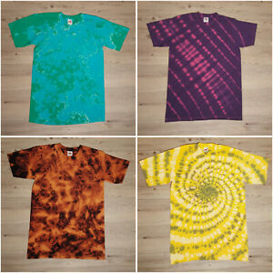 Unisex Size Small Tie Dye T-Shirt Many Colours and Designs Hippy Summer