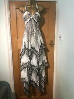 Forever Unique Size 10 Dress Anna UQU Printed Hanky Layer Dress Full Paisley New