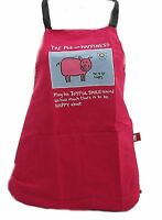 Edward Monkton The Pig of Happiness Cotton Apron  Kitchen Chef Cooking Apron