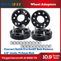 5X4.5 TO 5X5 WHEEL ADAPTERS 1.25 INCH ADAPTS JEEP CJ WHEELS ON TJ MJ YJ KK SJ XJ