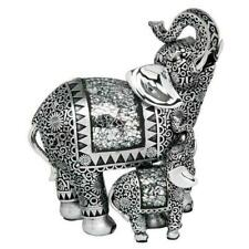 Gold Crackle ELEPHANT Ornament Jumbo Figurine Crackle Glass Design 13cm Gift