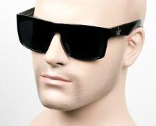 Large Square Gangster Cholo Super Dark Sunglasses LOC OG Style Marijuana THC1
