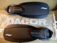 Dacor Pursuit Black Fins Scuba Snorkeling Diving Size Large 4131-30 Euc