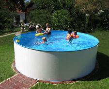 Rundbecken Marlos Ø 400 x 120 cm Stahlwand Rund Pool Schwimmbecken Swimmingpool
