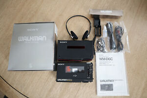 Sony Walkman WM-D6 COMPLETE w/ Case, Strap, Cable & Original Box  ~circa 1982~