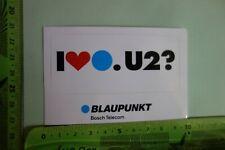 Alter Aufkleber BLAUPUNKT BOSCH TELECOM I like U2?