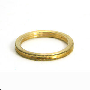 Solid Brass B22 BC Shade Ring Single for Lilleys Lampholders ONLY Ref BC5