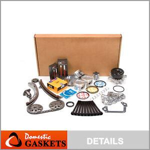 Fits 98-99 Toyota Corolla Chevrolet 1.8L DOHC Overhaul Engine Rebuild Kit 1ZZFE