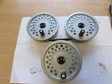 rare vintage hardy viscount 150 MKII SILENT CHECK  fly fishing reel + 2 spools .