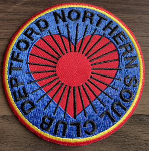 DEPTFORD NORTHERN SOUL CLUB  New Iron On / Sew On Patch Northern Soul Scene