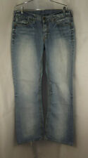 Guess Jeans L.A. Falcon Slim Boot Distressed Light Wash Denim Jeans size 33 x 30