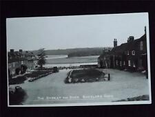 OLD POSTCARD OF THE STREET AND RIVER BUCKLARS HARD HAMPSHIRE  - UNUSED